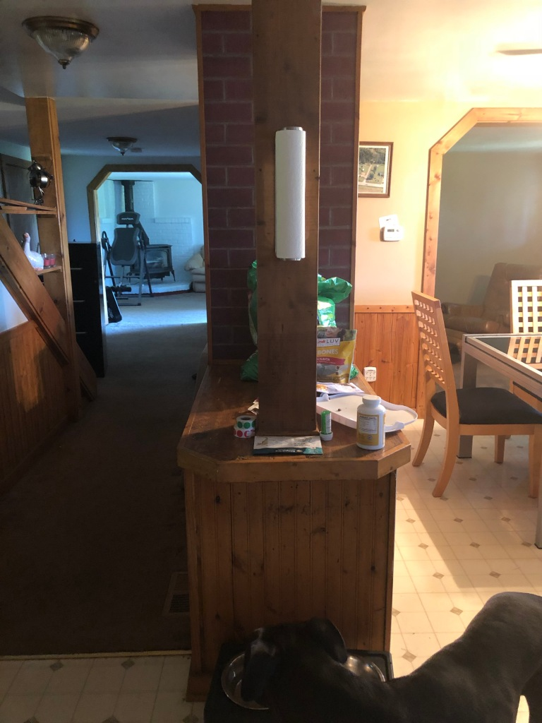 before kitchen chimney wall