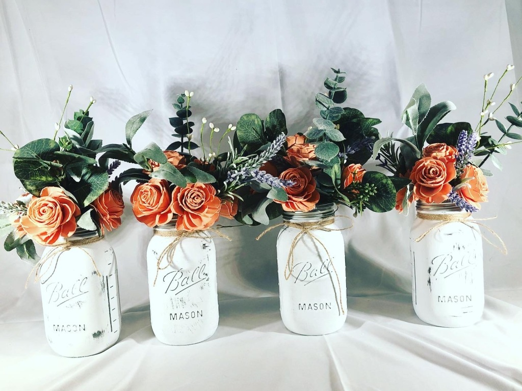 mother's day mason jar centerpieces