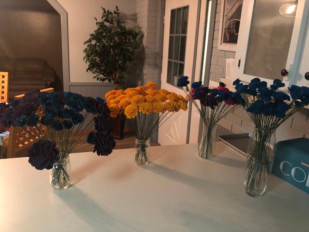 stemmed sola wood flowers
